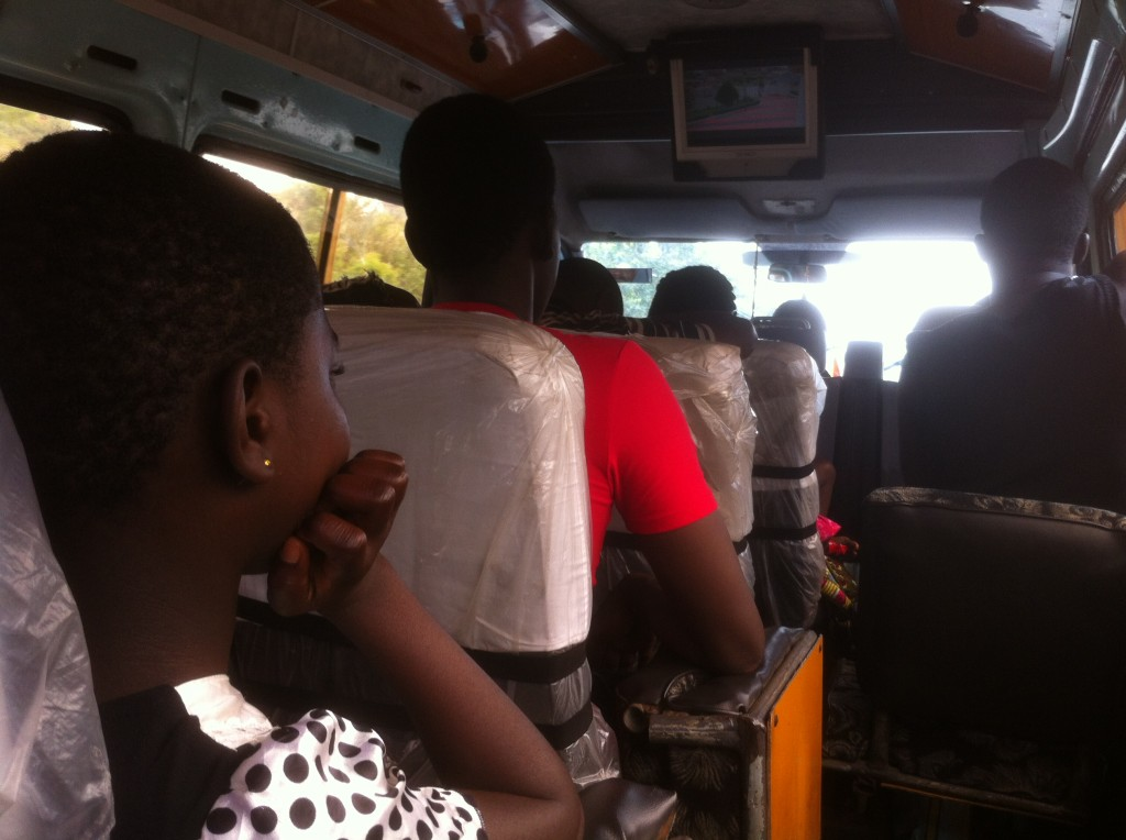 Oh my gosh, a TV in the trotro!! Now where's my seatbelt....