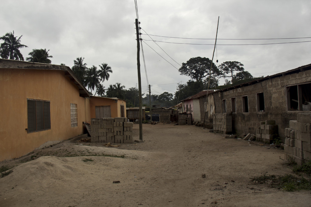 To the left, you will see the community center of Afrangua.